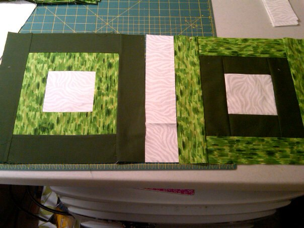 Son's quilt, the beginning, I have it sewn together already!!!  yay