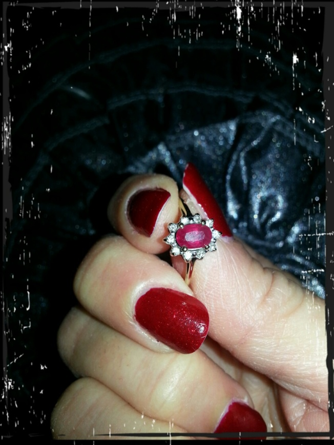 my red nails and my ruby ring from you know who ( a few years back)