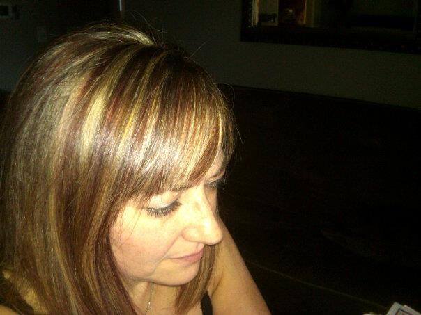 me and red highlights