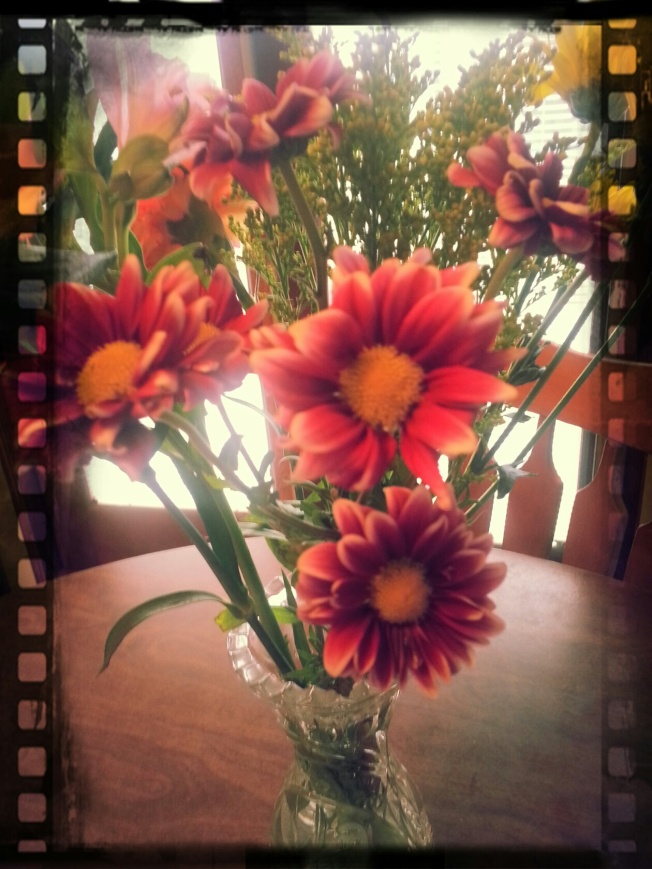 { Did I tell you I got flowers this week?}