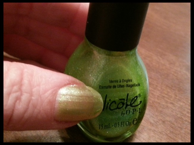(sparkly green}